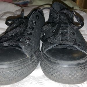 Black on black converse! Size 9 Women's